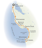 San Francisco to Monterey Map